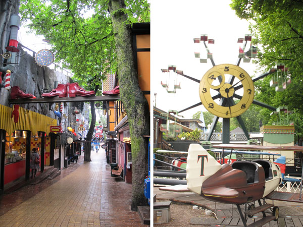 The Tivoli amusement center in the heart of Copenhagen
