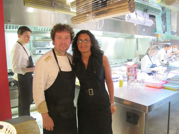 Chef Albert Adrià and I at Tickets tapas bar © Will Travel for Food