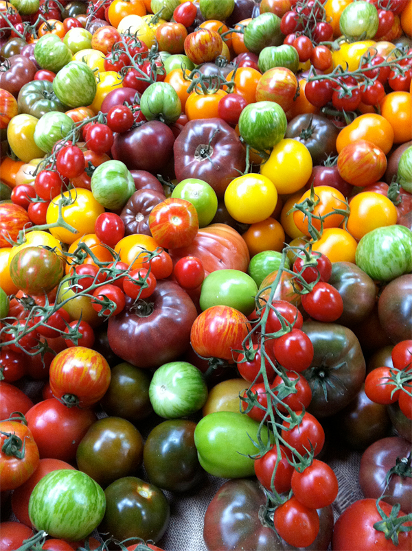 Heirloom tomatoes at Borough Market in London © Will Travel for Food