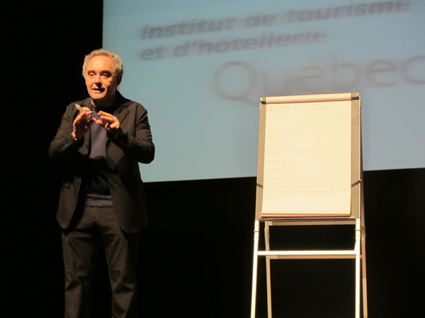Ferran Adrià's conference in Montreal © Will Travel for Food