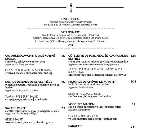 foodlab societe orignal menu © Will Travel for Food