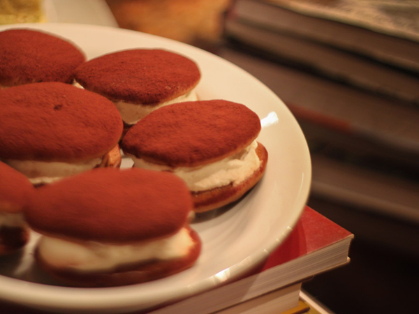 Tiramisu whoopie pies recipe © Will Travel for Food