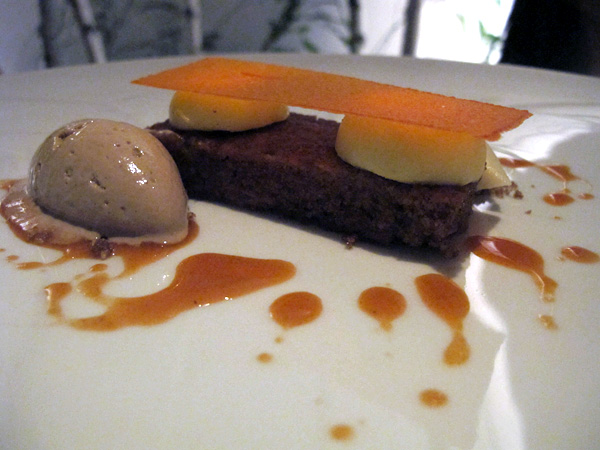 Carrot cake at Aldea New York © Will Travel for Food