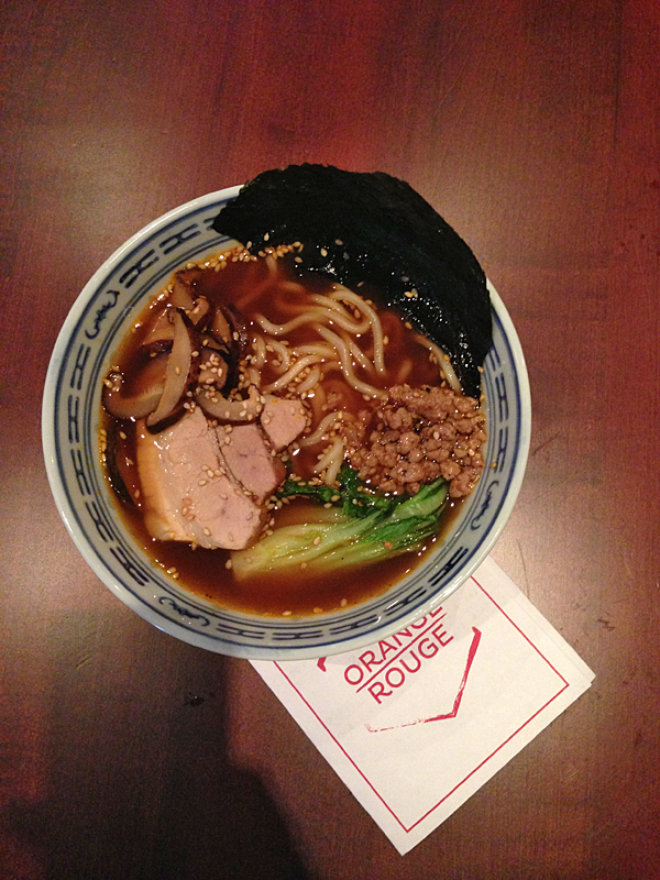 orange rouge restaurant ramen soup montreal © Will Travel for Food