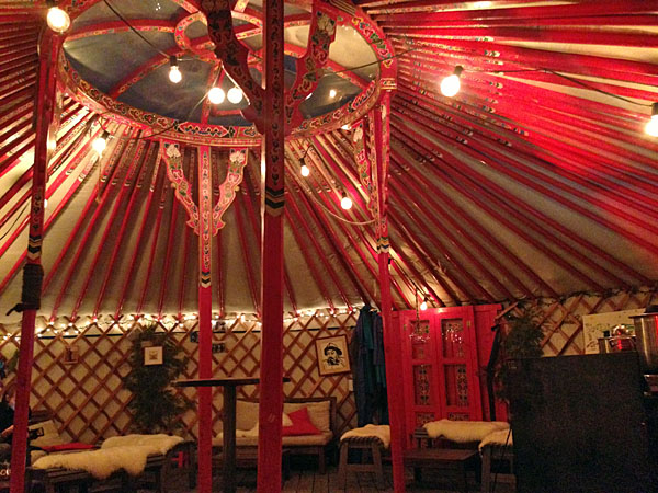 The beautiful Mongolian yurt on FoodLab's terrace
