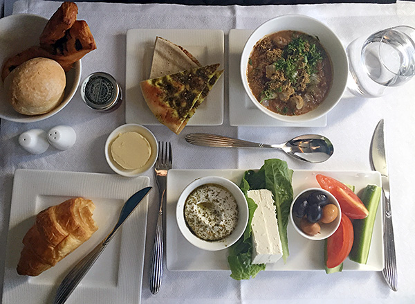 arabic breakfast qatar airways © Will Travel for Food