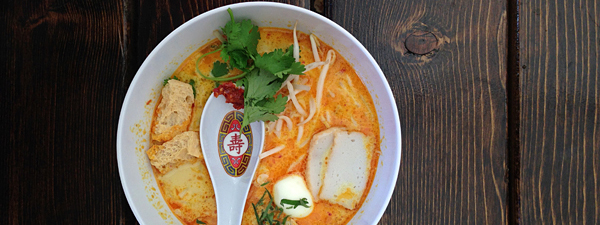 best restaurant montreal South East Asian laksa lemak soup at Satay Brothers