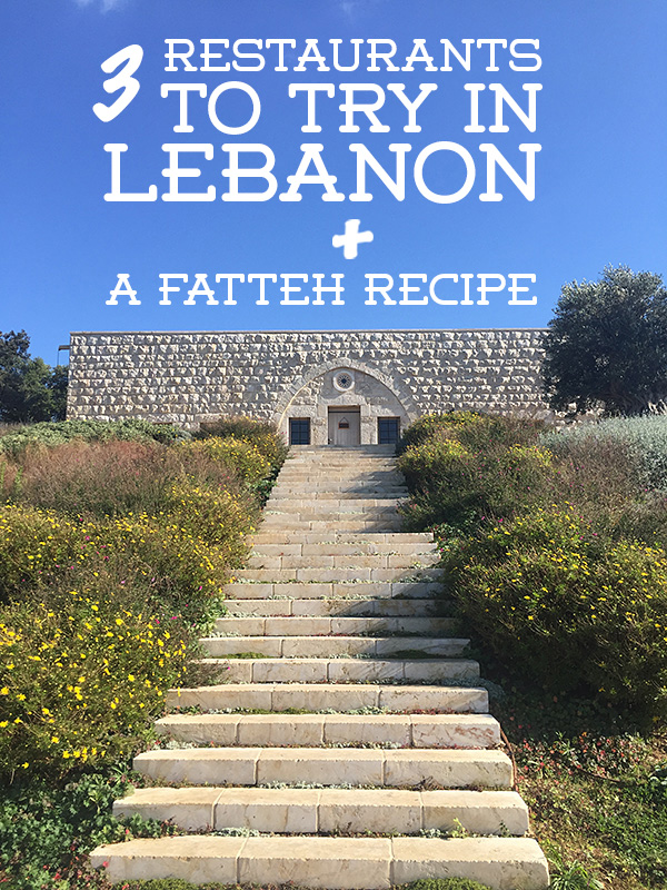 best restaurants in lebanon © Will Travel for Food