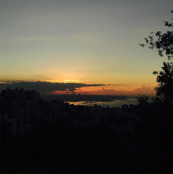 sunset over beirut © Will Travel for Food