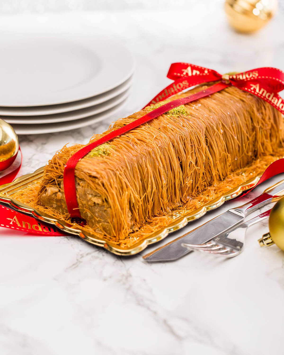 baklava-yule-log-montreal © Will Travel for Food