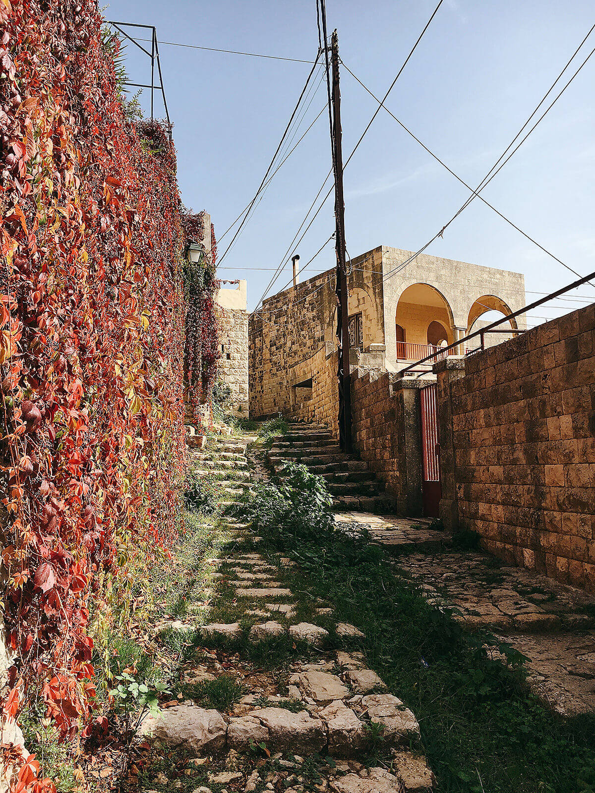 The charming streets of Deir El Qamar
