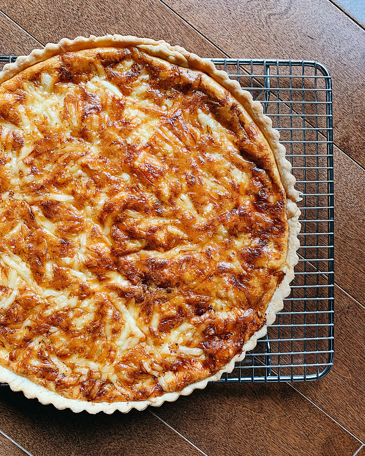 caramelized onion tart recipe © Will Travel for Food